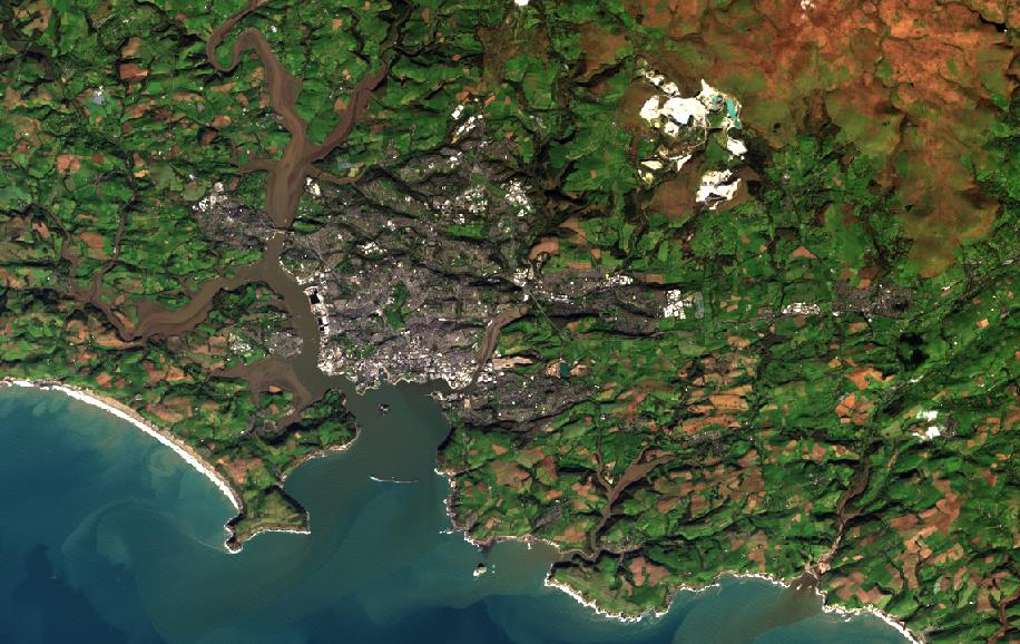 Draft Plymouth Landsat8 Psuedo True Colour Composite